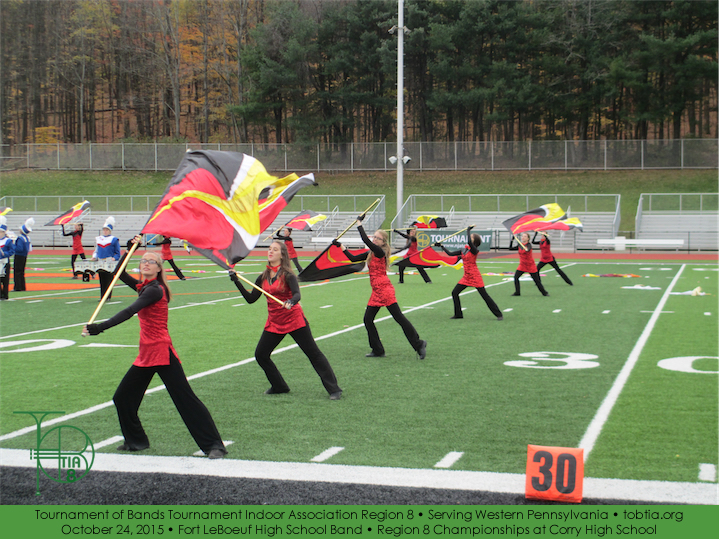 Region 8 Marching Band Championships at Corry High School